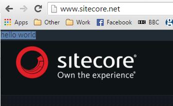 sitecore.net screenshot